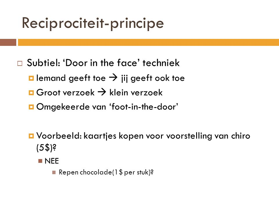 Reciprociteit-principe