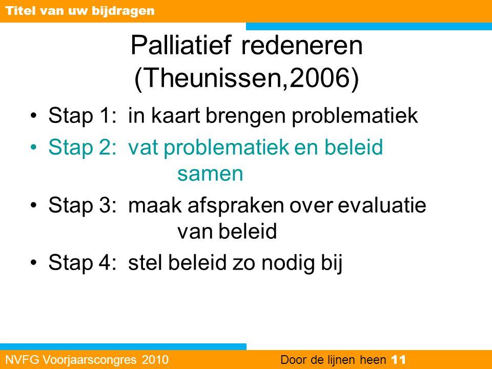 Palliatief redeneren (Theunissen,2006)