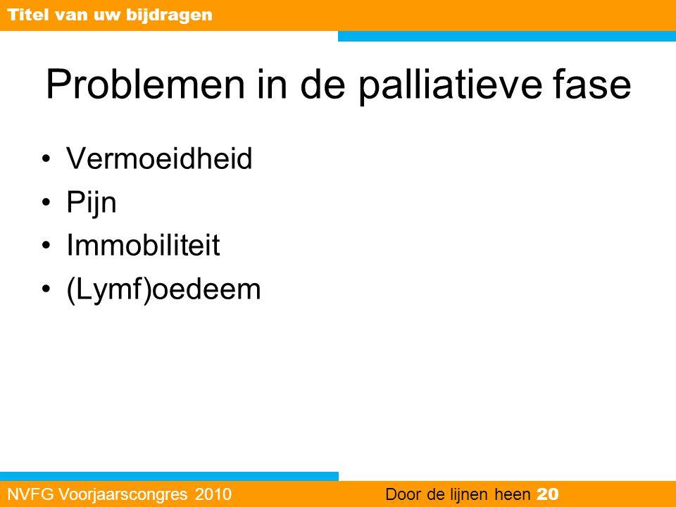 Problemen in de palliatieve fase