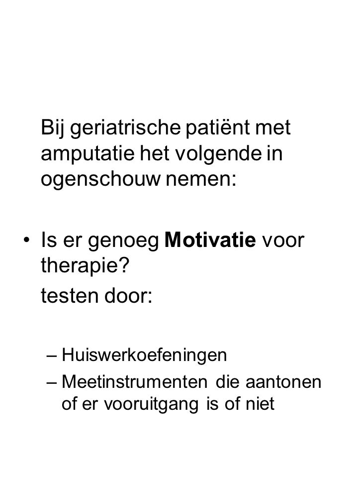 Is er genoeg Motivatie voor therapie testen door: