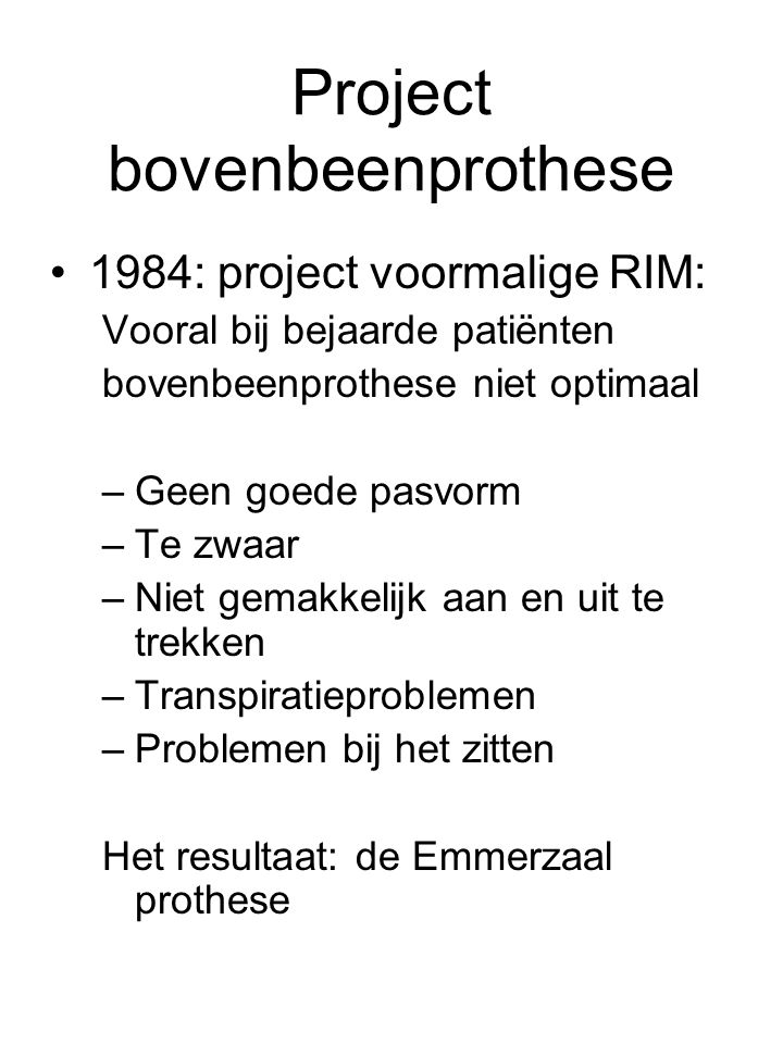 Project bovenbeenprothese