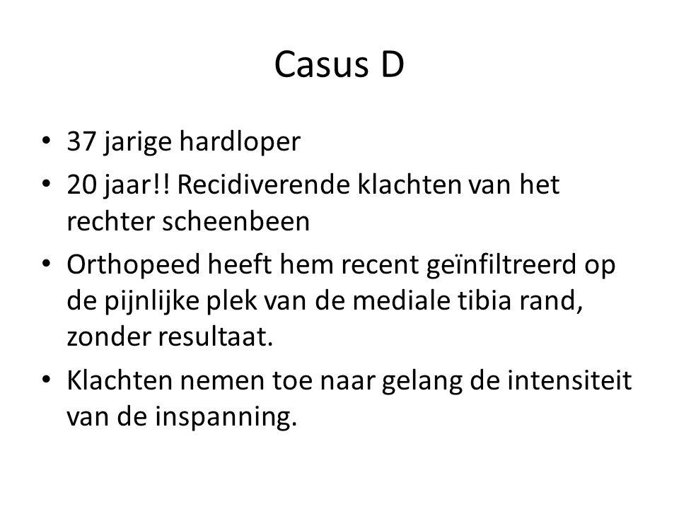 Casus D 37 jarige hardloper