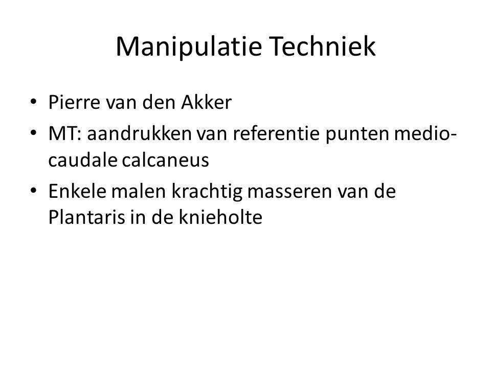 Manipulatie Techniek Pierre van den Akker