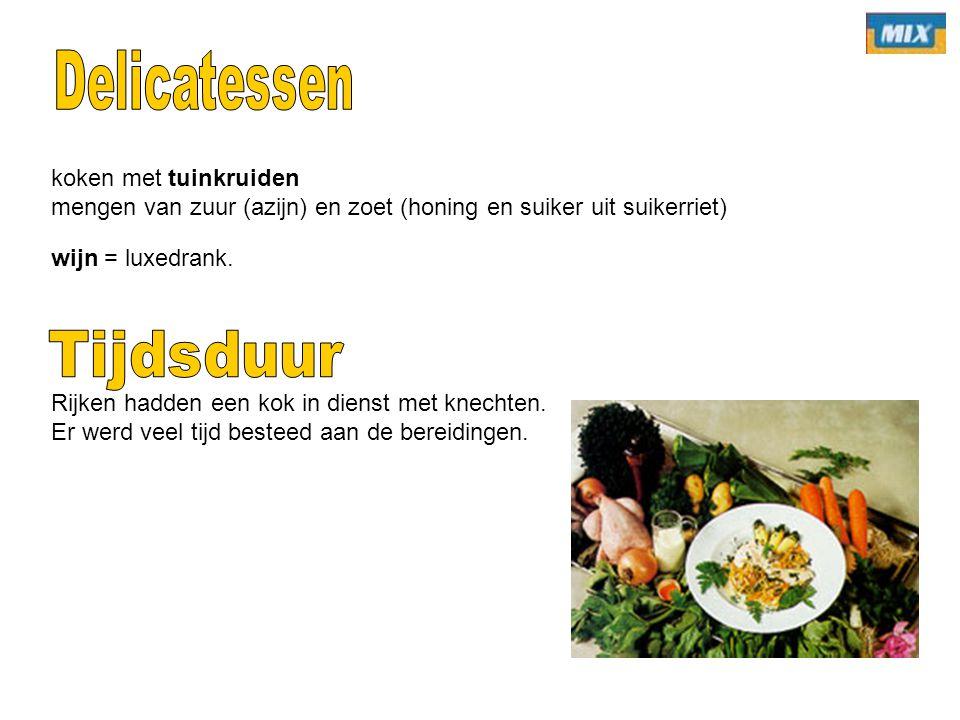 Delicatessen Tijdsduur koken met tuinkruiden