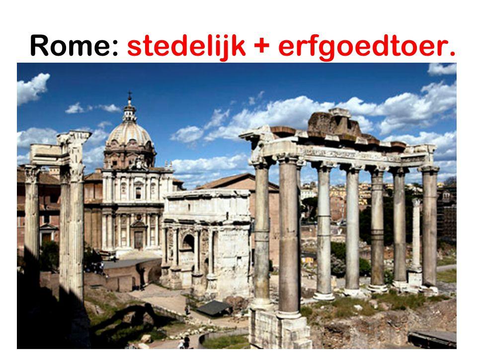 Rome: stedelijk + erfgoedtoer.