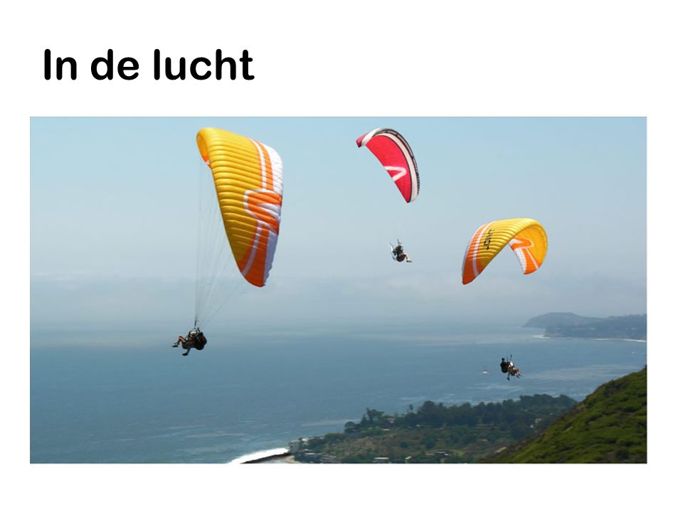In de lucht