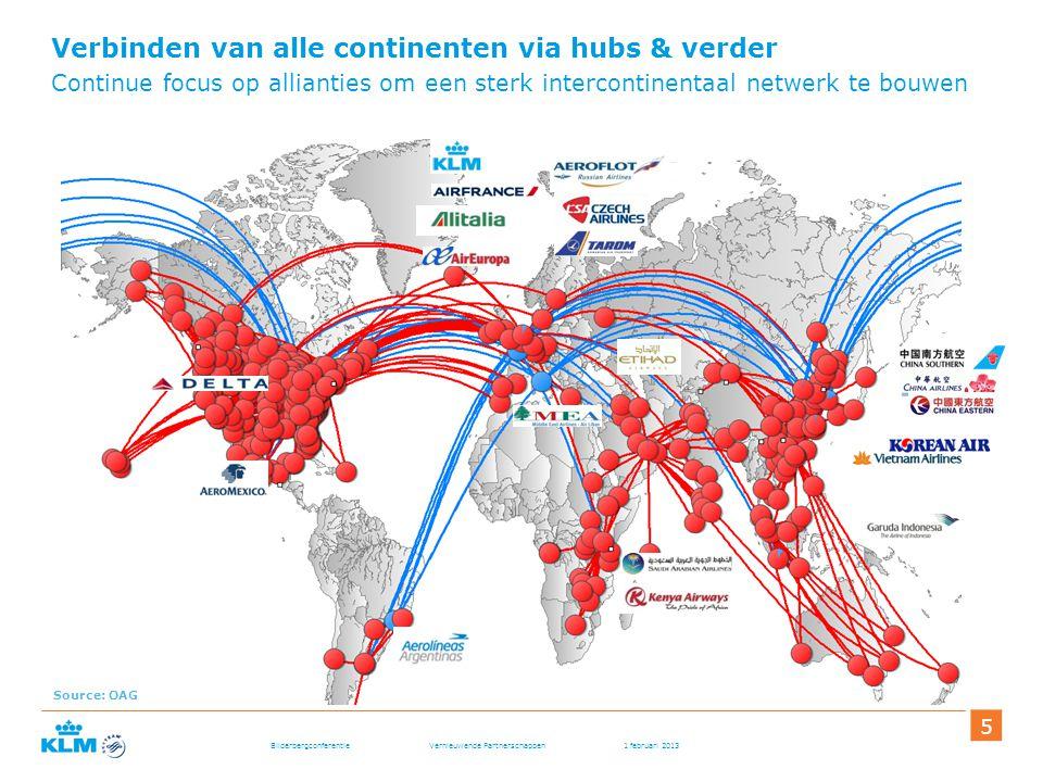 Verbinden van alle continenten via hubs & verder