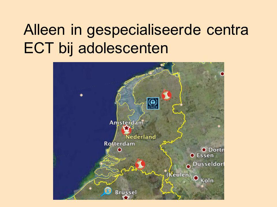 Alleen in gespecialiseerde centra ECT bij adolescenten