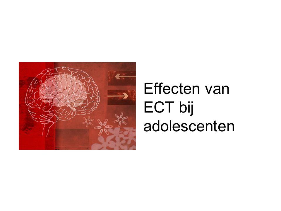 Effecten van ECT bij adolescenten