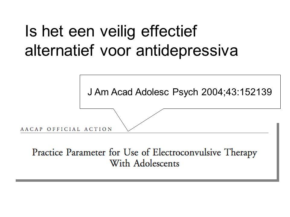 Is het een veilig effectief alternatief voor antidepressiva