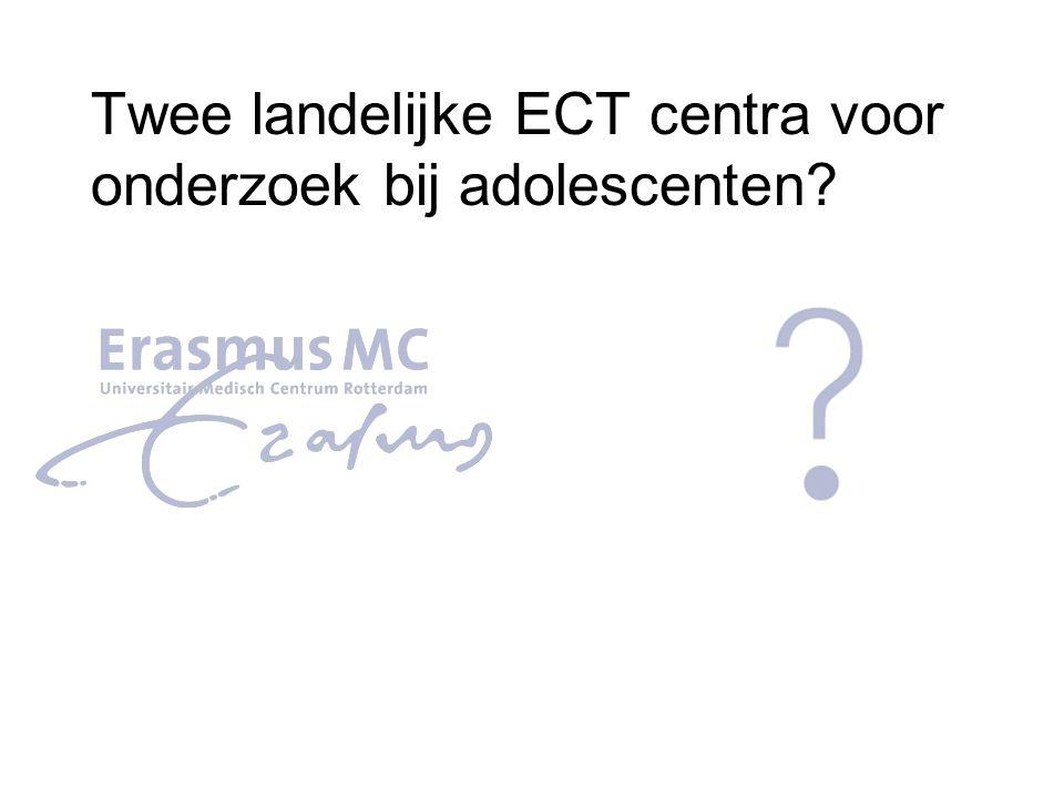 Twee landelijke ECT centra voor onderzoek bij adolescenten