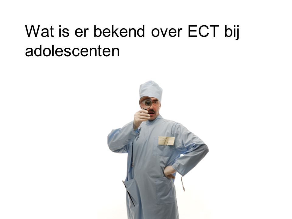 Wat is er bekend over ECT bij adolescenten
