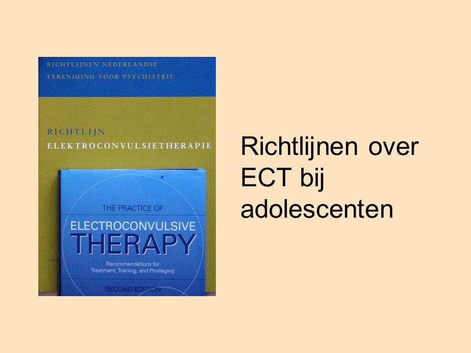 Richtlijnen over ECT bij adolescenten