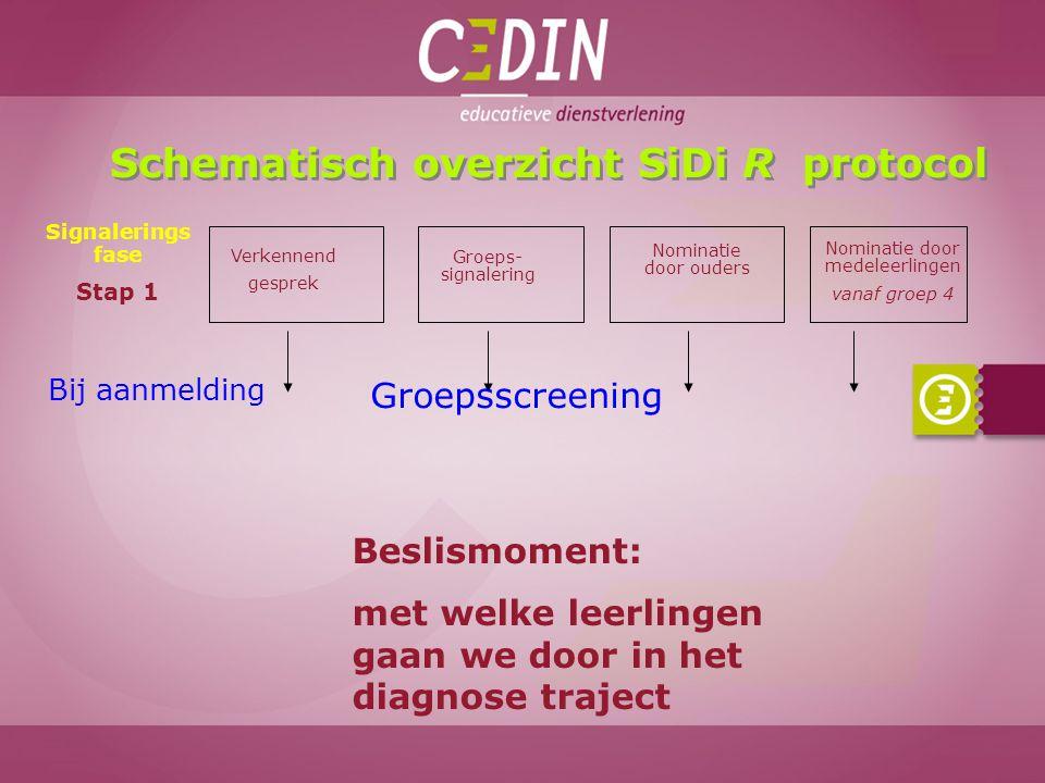 Schematisch overzicht SiDi R protocol