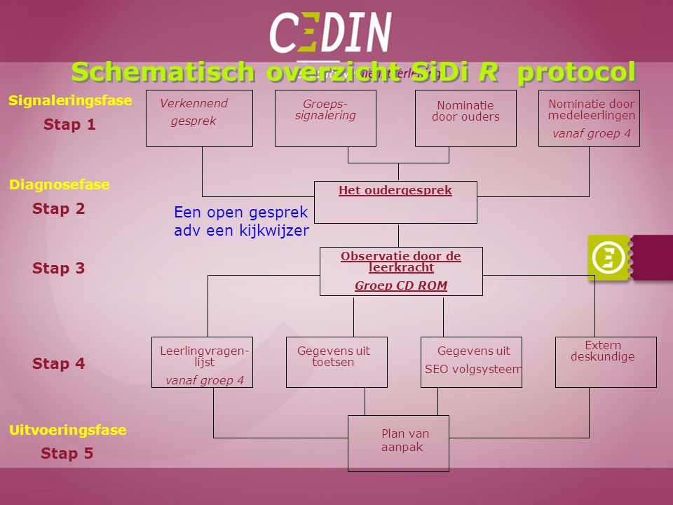 Schematisch overzicht SiDi R protocol Observatie door de leerkracht
