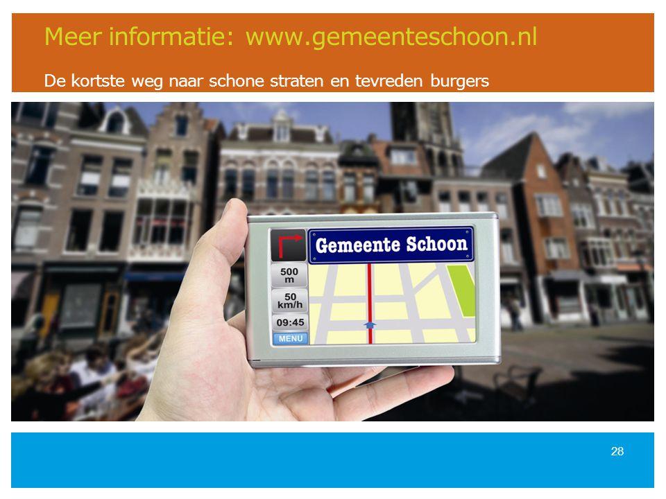 Meer informatie: www. gemeenteschoon