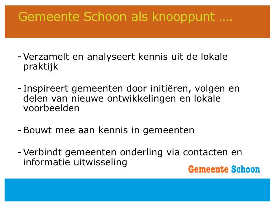 Gemeente Schoon als knooppunt ….