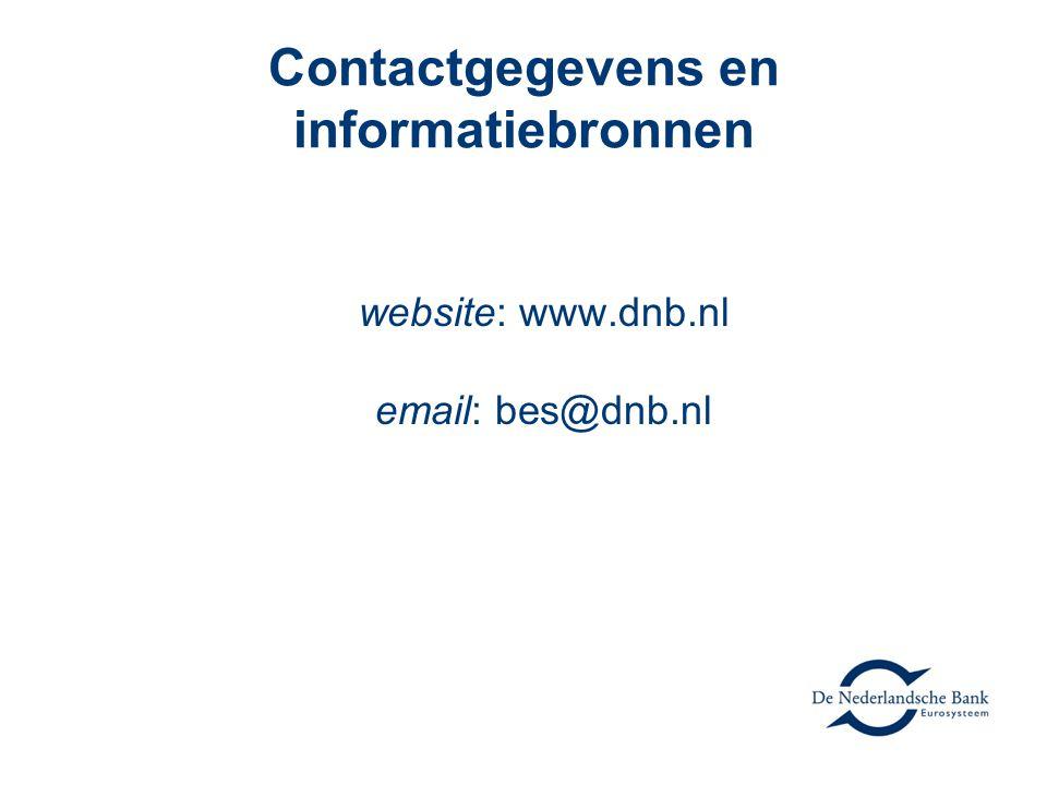 Contactgegevens en informatiebronnen