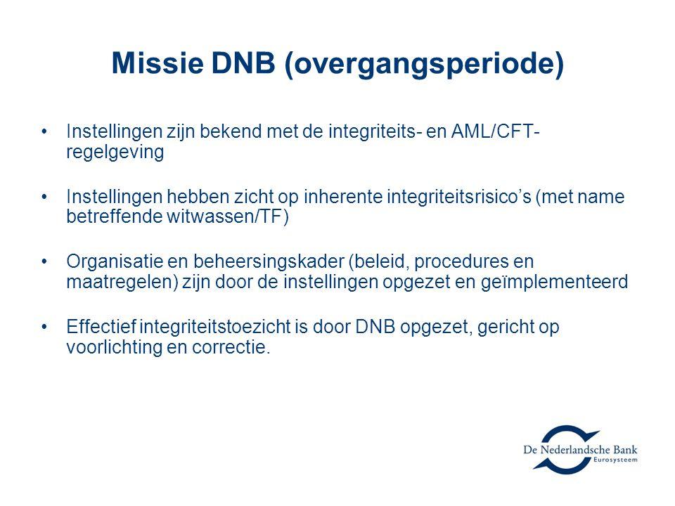 Missie DNB (overgangsperiode)