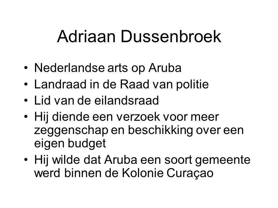 Adriaan Dussenbroek Nederlandse arts op Aruba