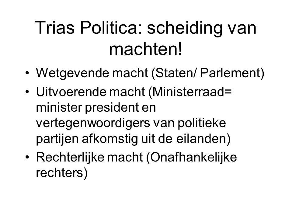 Trias Politica: scheiding van machten!