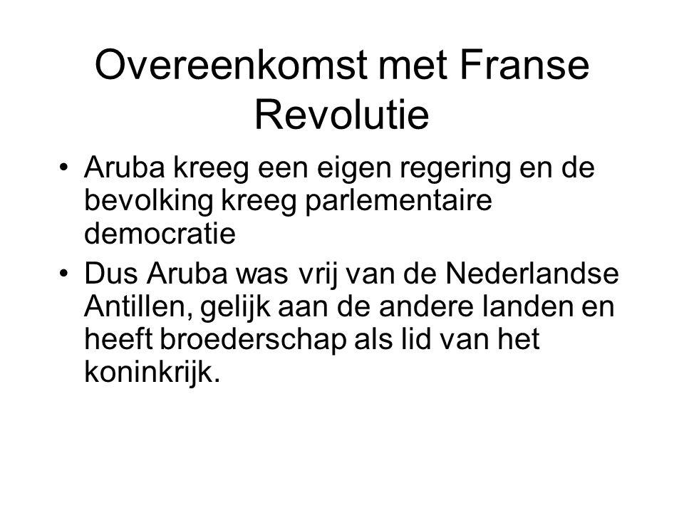 Overeenkomst met Franse Revolutie