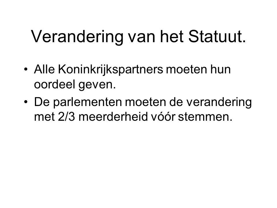 Verandering van het Statuut.