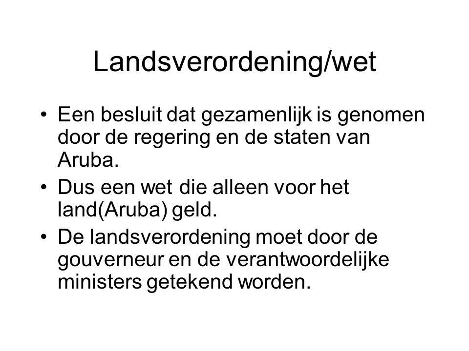 Landsverordening/wet