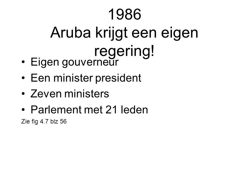 1986 Aruba krijgt een eigen regering!