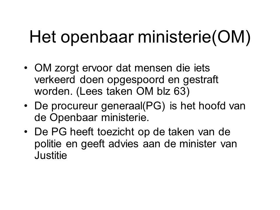 Het openbaar ministerie(OM)