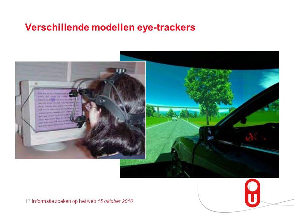 Verschillende modellen eye-trackers
