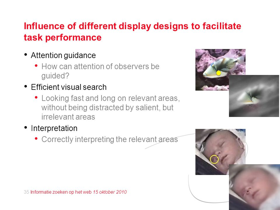 Influence of different display designs to facilitate task performance