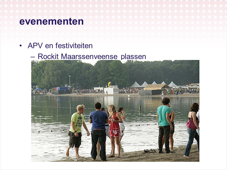 evenementen APV en festiviteiten Rockit Maarssenveense plassen