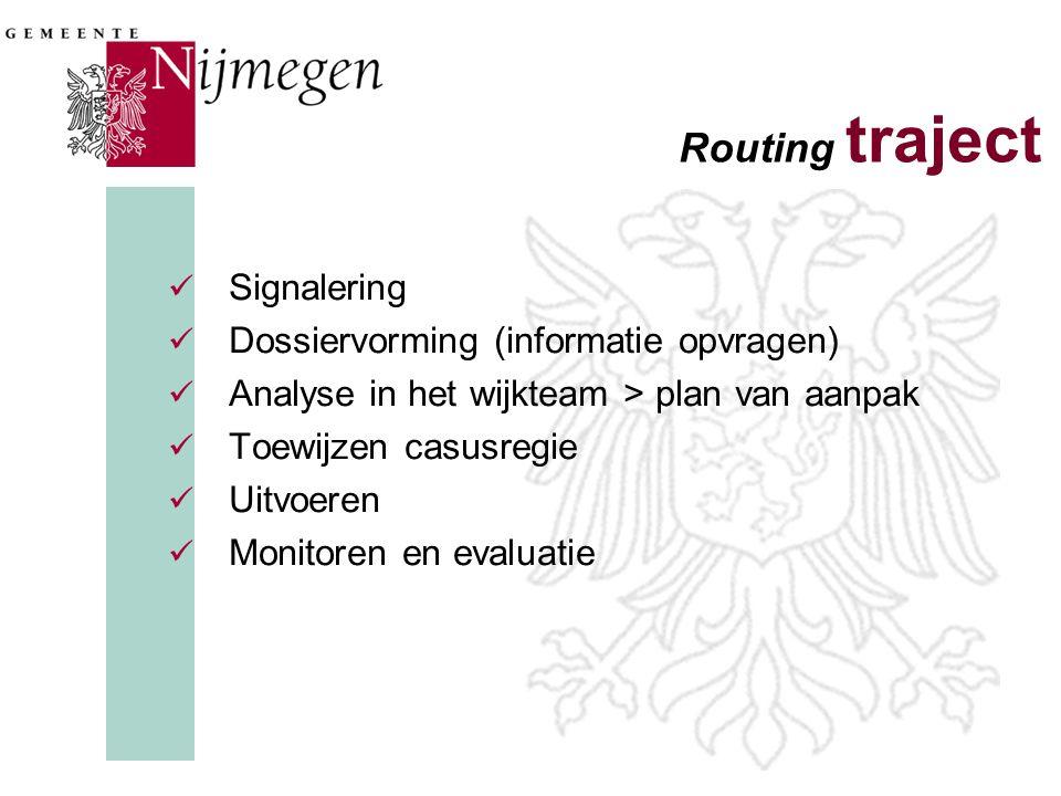 Routing traject Signalering Dossiervorming (informatie opvragen)