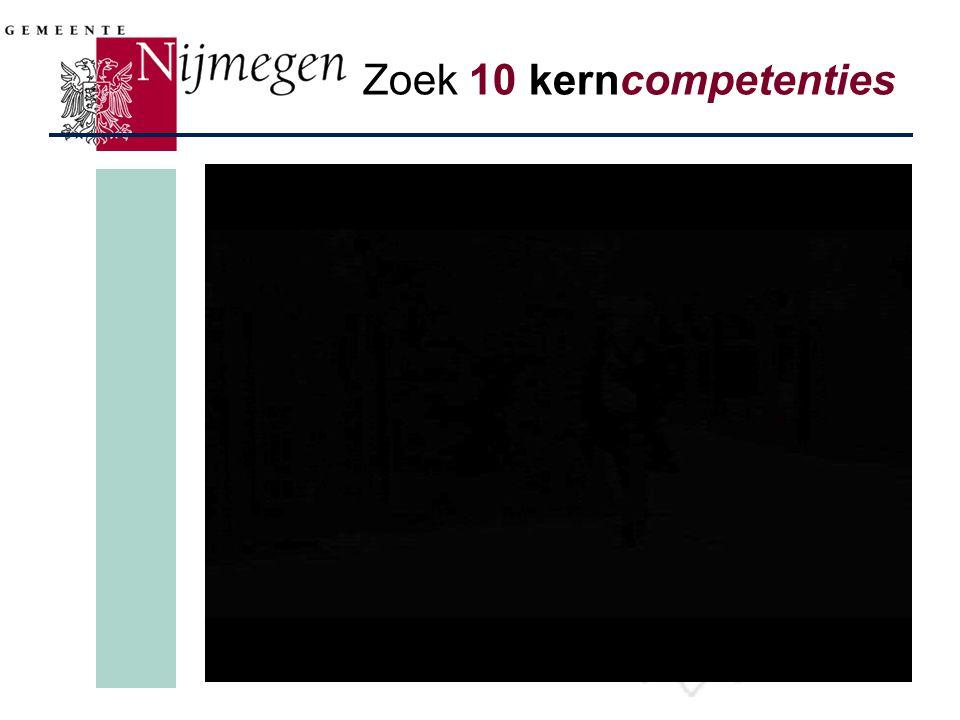 Zoek 10 kerncompetenties