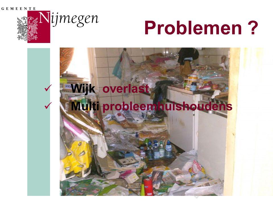 Problemen Wijk overlast Multi probleemhuishoudens