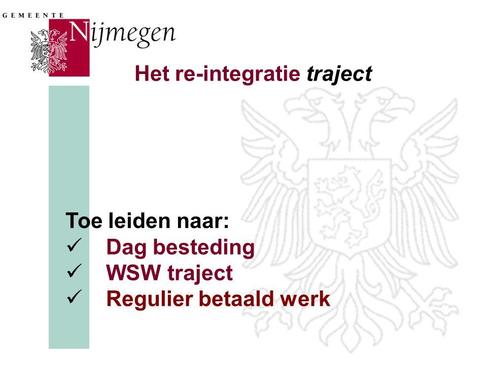 Het re-integratie traject