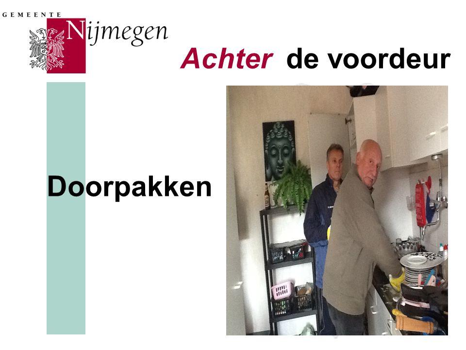 Oplossen Achter de voordeur Doorpakken
