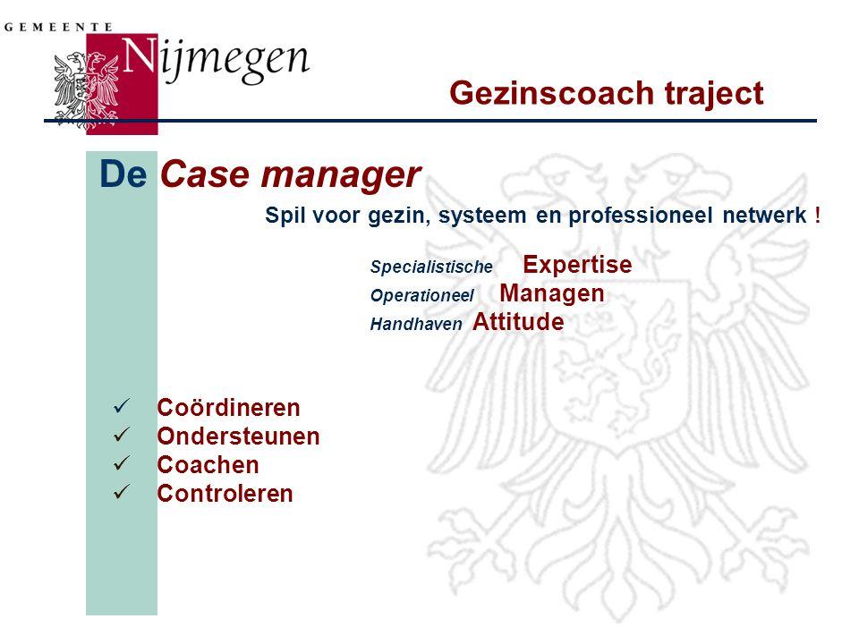 De Case manager Gezinscoach traject