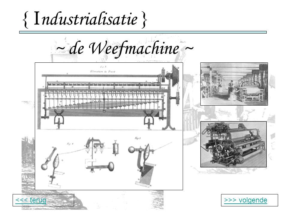 { Industrialisatie } ~ de Weefmachine ~ <<< terug