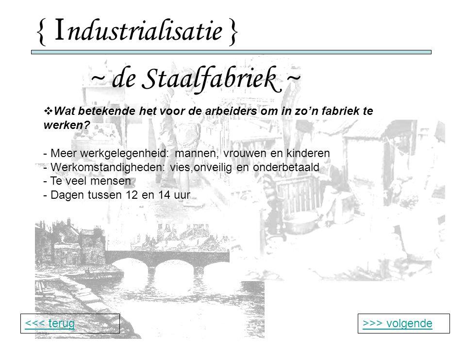 { Industrialisatie } ~ de Staalfabriek ~