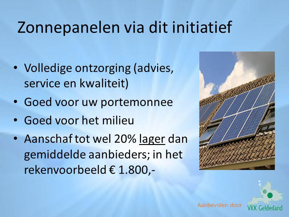 Zonnepanelen via dit initiatief