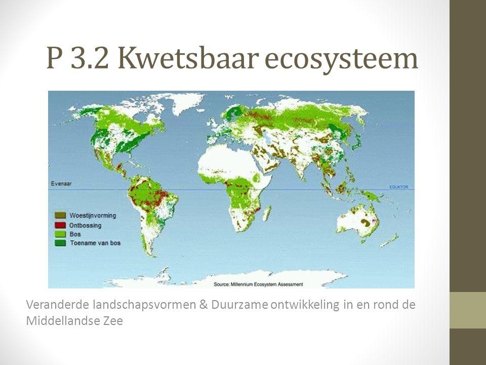 P 3.2 Kwetsbaar ecosysteem