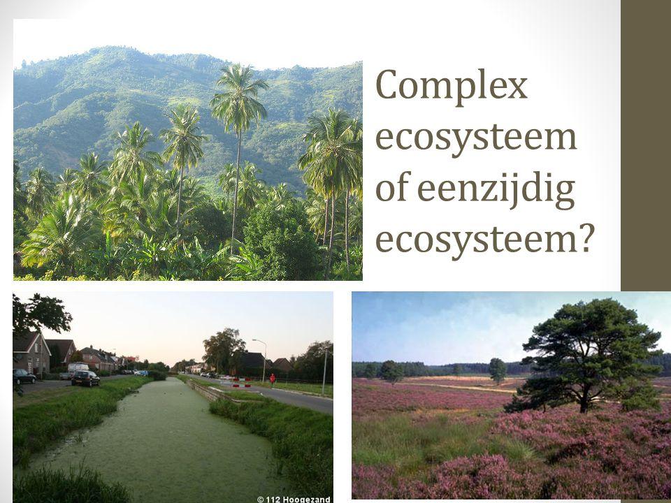 Complex ecosysteem of eenzijdig ecosysteem