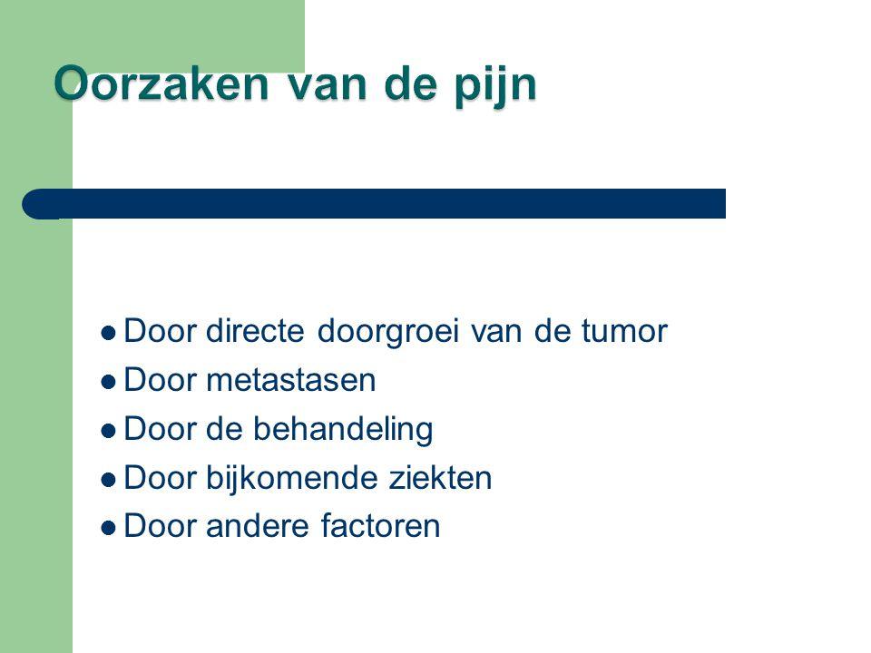 Oorzaken van de pijn Door directe doorgroei van de tumor
