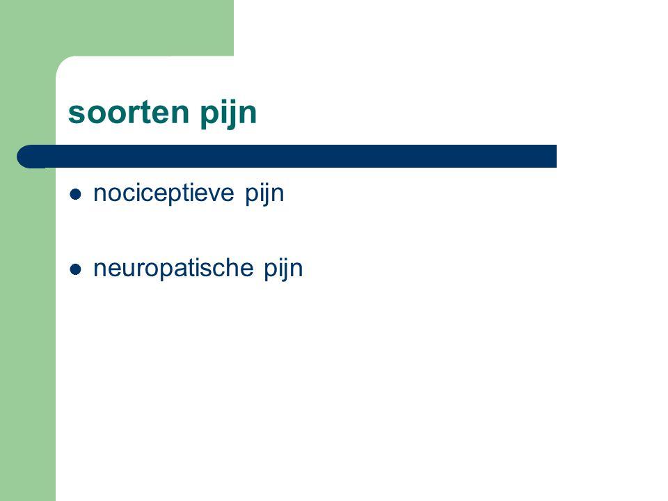 soorten pijn nociceptieve pijn neuropatische pijn