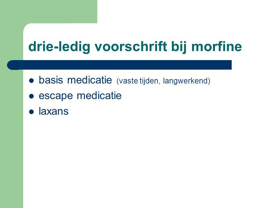 drie-ledig voorschrift bij morfine