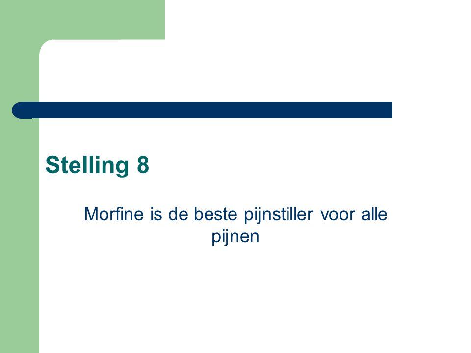 Morfine is de beste pijnstiller voor alle pijnen