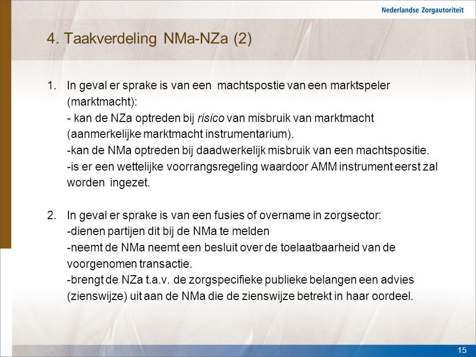 4. Taakverdeling NMa-NZa (2)