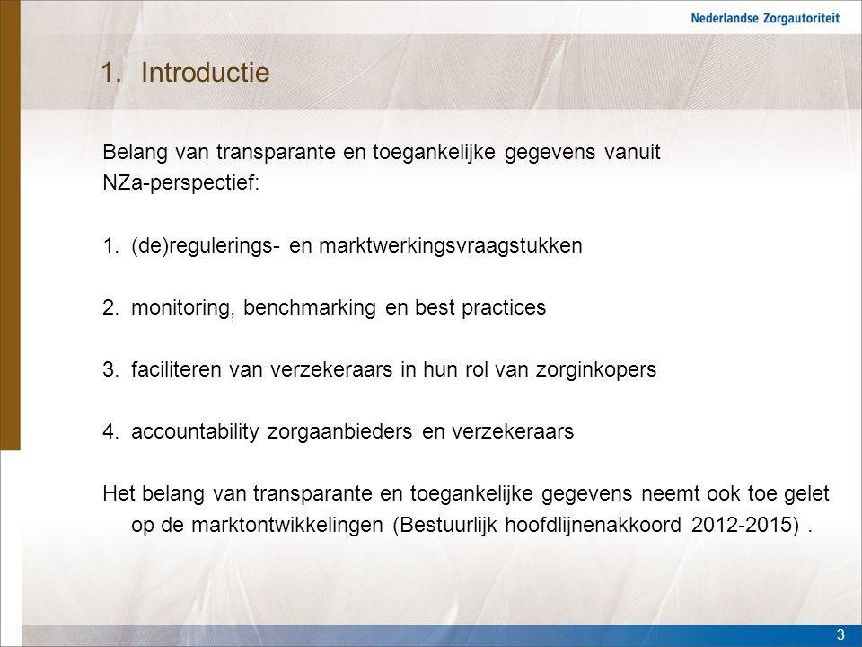 Introductie Belang van transparante en toegankelijke gegevens vanuit